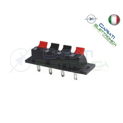 Morsettiera a Molla per Casse Audio Altoparlante Speaker 4 poli 65,5mm