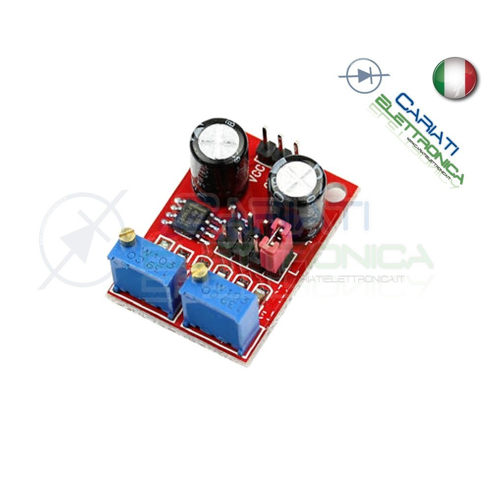 Scheda Generatore di impulsi con frequenza e duty cycle variabile NE555
