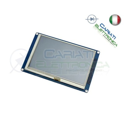 "Display TFT LCD Grafico 5"" Pollici 800X480 SSD1963 con Touch e SD"