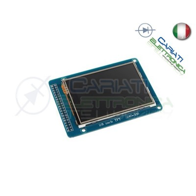 Display lcd grafico 320X240 2.8 TFT ILI9325 con touch e SD comp Arduino  19,00 €