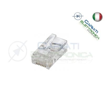 10 PEZZI PEZZI CONNETTORI PLUG RJ45 CAVO LAN ETHERNET CONNETTORE