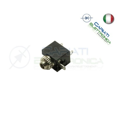 2 PEZZI CONNETTORE JACK SPINA AUDIO FEMMINA 3.5 mm
