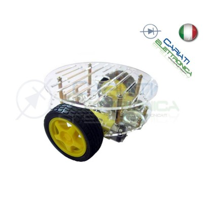 KIT Robot Car chassis piattaforma Rotonda shield Arduino Pic 2 Ruote