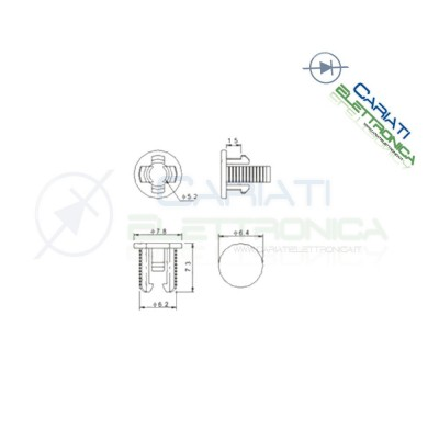 20 PEZZI SUPPORTO PORTA LED 5MM IN ABS PLASTICA NERA  2,50€