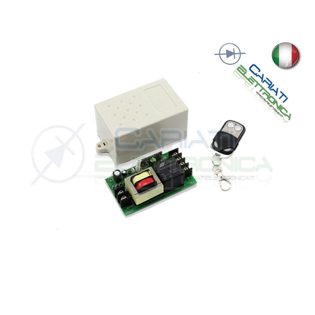 Scheda Ricevente Ricevitore 230V 433 Mhz 1 Canale Relè 12V 50A con Telecomando  21,90€