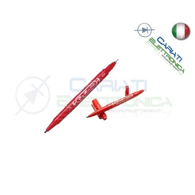 Penna rossa per circuiti stampati basetta ramata vetronite bachelite  2,40€