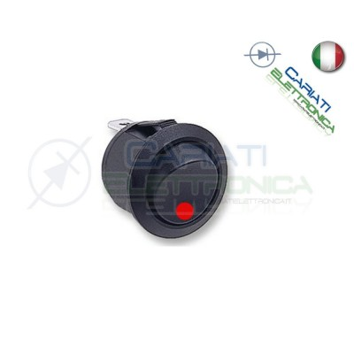 Interruttore Con Led Rosso 16A 12V