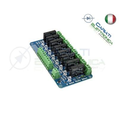 Scheda modulo 5V 8 relè SSR Omron G3MB-202P 240V 2A con Fusibile di protezione 25,90 €