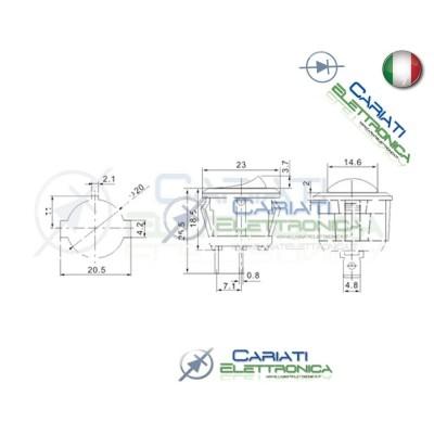 Interruttore a Bilanciere Nero Con Led Verde 10A 12V SPST da pannello