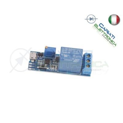MODULO TEMPORIZZATORE USB 5V 6,5V REGOLABILE NE555 TIMER RELE' RELAY
