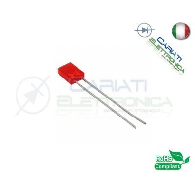100 PEZZI Led rettangolare rettangolari 110° 2x5x7mm colore Rosso Flat Top 8,50 €
