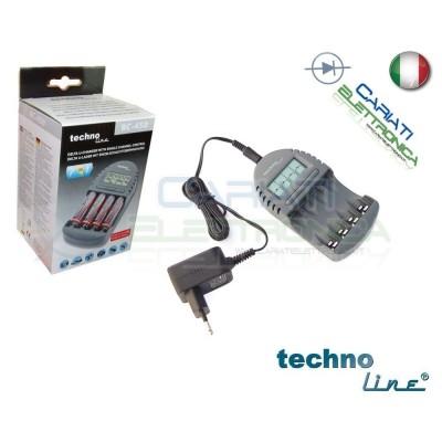Technoline BC450 Caricabatterie elettronico AA AAA Stilo Ministilo con Display 29,90 €