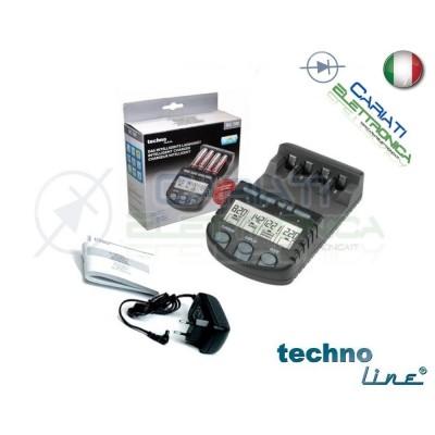Technoline BC700 Caricabatterie elettronico AA AAA Stilo Ministilo con Display 29,99 €