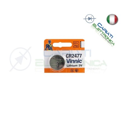 BATTERIA VINNIC CR2477 CR2477 3V LITIO  Vinnic 3,50 €