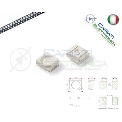 10 pz Led smd 3528 Bianchi PLCC PLCC2 Alta Luminosità 4,90 €