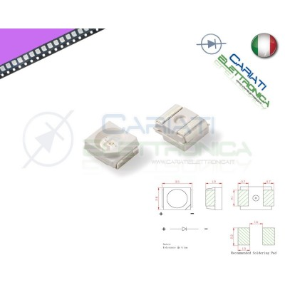 10 pz Led smd 3528 UV PLCC PLCC2 Alta Luminosità  6,00 €