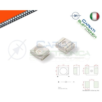 10 pz Led smd 3528 ARANCIONE PLCC PLCC2 Alta Luminosità  5,50€
