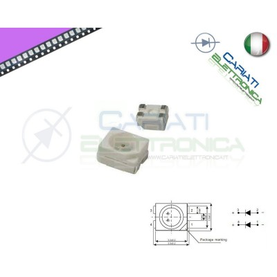 10 pz Led smd 3528 UV PLCC4 alta Luminosità  6,50 €