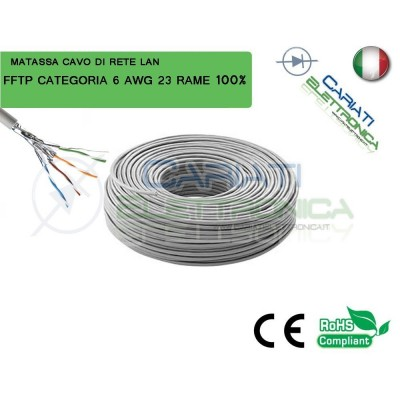 MATASSA 20 METRI 20M STP SFTP FFTP CAT.6 SCHERMATA CAVO DI RETE LAN IN RAME