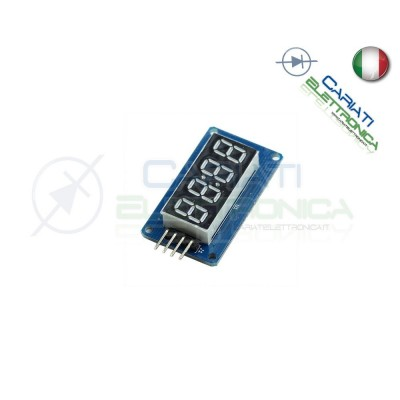 Modulo display 4 cifre seriale con TM1637 shield arduino pic raspberry  3,00 €
