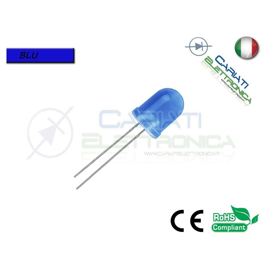20 pz Led 10mm Blu Luce Diffusa 1500mcd 4,50 €