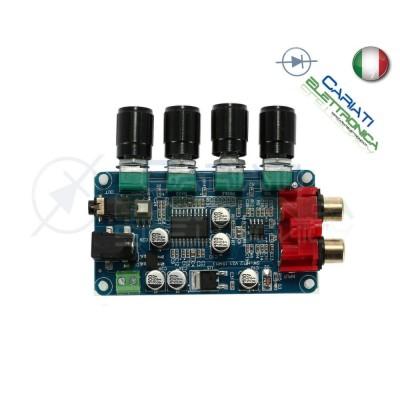 PREAMPLIFICATORE AUDIO STEREO CON LM1036 + NE5532 12V DC RCA TONO VOLUME BALANCE
