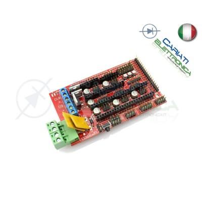 Controller RAMPS 1.4 Reprap Mendel Prusa stampante 3D printer Arduino Generico