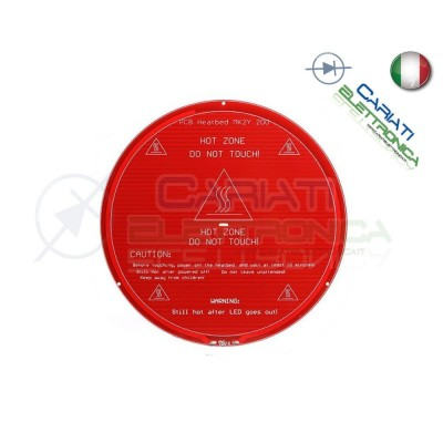 Piatto Piastra calda MK2Y Heatbed Round RAMPS stampante 3D hot plate