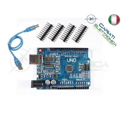 Scheda compatibile Arduino uno R3 SMD ATmega328 con cavo USB