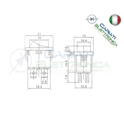 Interruttore Verde A Bilanciere Bipolare ON OFF 6A 250V Da Pannello Con Luce DPST  0,89€