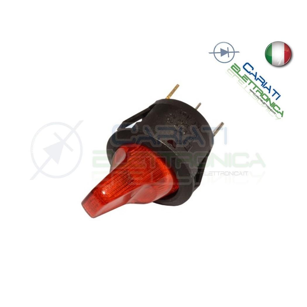 Interruttore Leva con Luce Rossa Rosso ON OFF 6A 250V  1,40€
