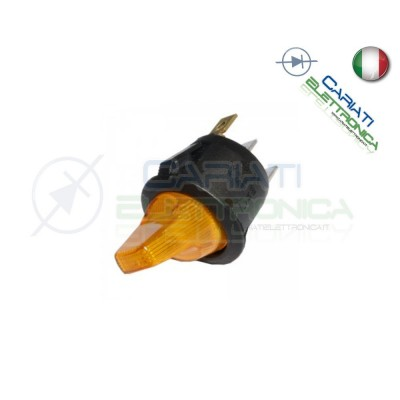 Interruttore Leva con Luce Gialla Giallo ON OFF 6A 250V