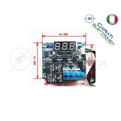 Mini Termostato da -40°C a +120°C con sonda Temperatura timer e relè WX-101W