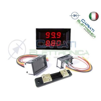 Amperometro Voltometro ROSSO da pannello 0-100A 0-100V tester Tensione Corrente