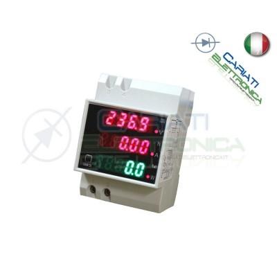 DISPLAY DIN 220V CONTATORE ENERGIA VOLTMETRO AMPEROMETRO WATTMETRO COSFIMETRO