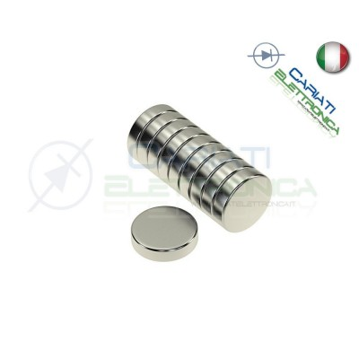 100 Pezzi CALAMITE MAGNETI NEODIMIO 10mm 10X2 mm FIMO CERAMICA BOMBONIERE  14,00€