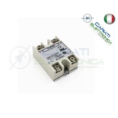 Relè Statico 50A 80-280Vac 24-380Vac SSR-50 AA Stato Solido Relay