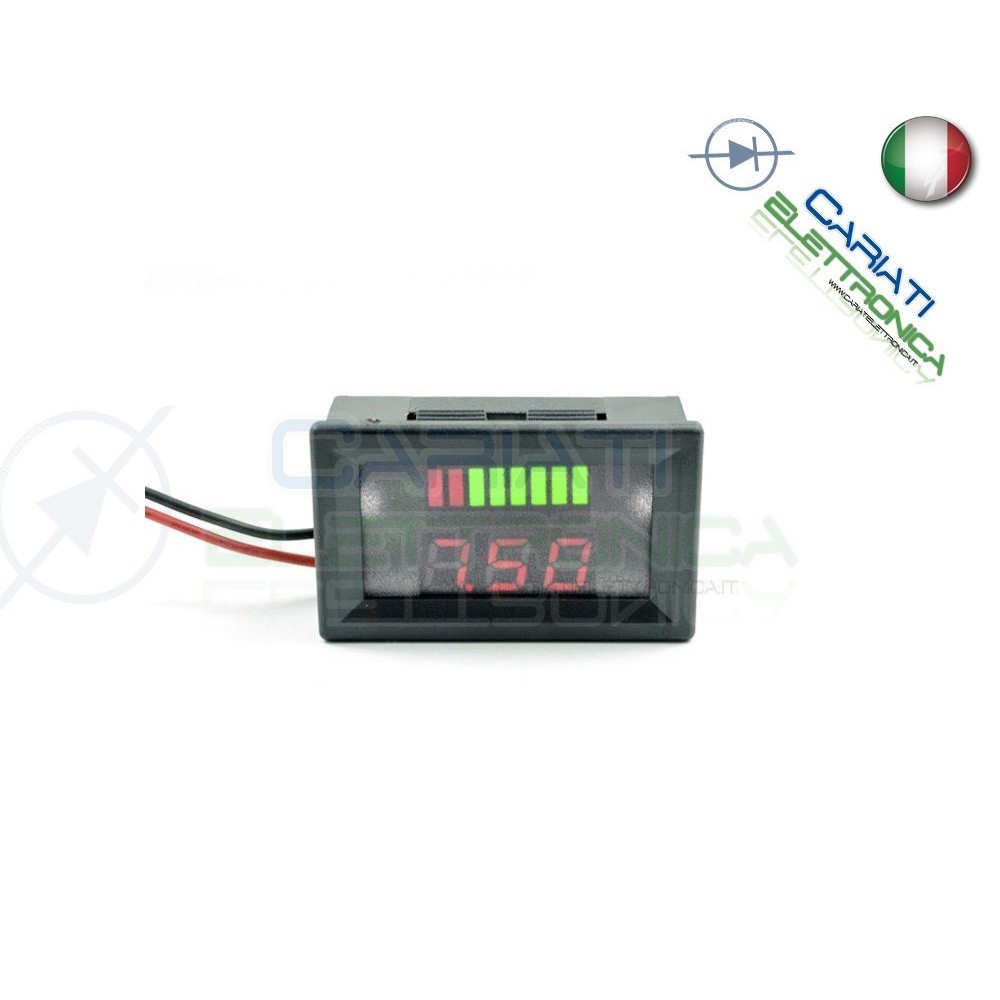 INDICATORE DI CARICA VOLTMETRO Display led per batterie al piombo 24V  7,49 €