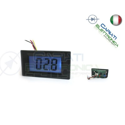 Display Ohmmetro ohm meter retroilluminato a led da pannello 3 cifre 2k/2M ohm