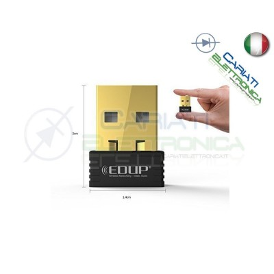 EDUP EP-N8531 ANTENNA NANO MINI USB WIRELESS WIFI CHIAVETTA 150Mbps PER DECODER  8,00€