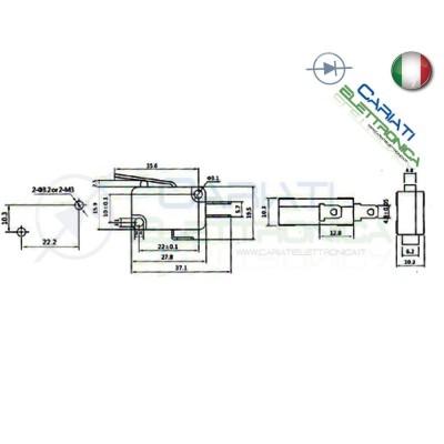 Microswitch Pulsante Fine Corsa Micro Switch a Leva 16A 250Vac  1,00€