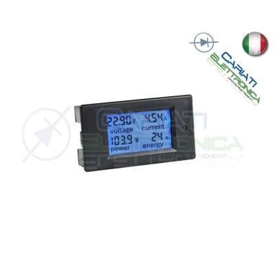 MISURATORE DI CONSUMO ELETTRICO WATTMETRO VOLTMETRO AMPEROMETRO 6.5-100Vdc 20A