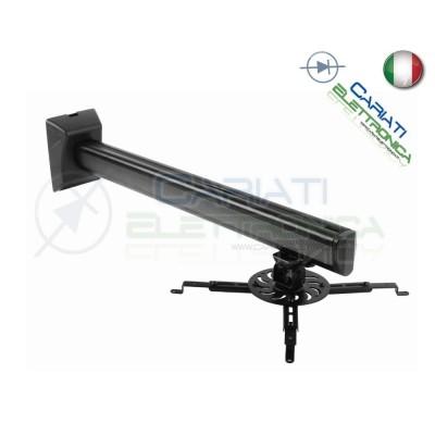 SUPPORTO STAFFA BRACCIO MURO PARETE PROIETTORE VIDEOPROIETTORE NERA  64,90€
