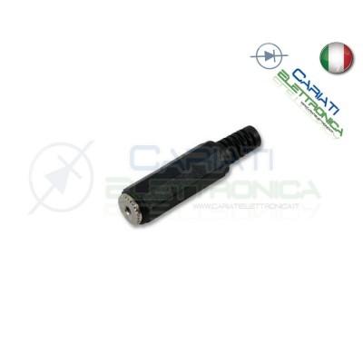 PRESA JACK VOLANTE STEREO CON GUIDACAVO A SALDARE 2,5 2.5mm PVC NICHELATO