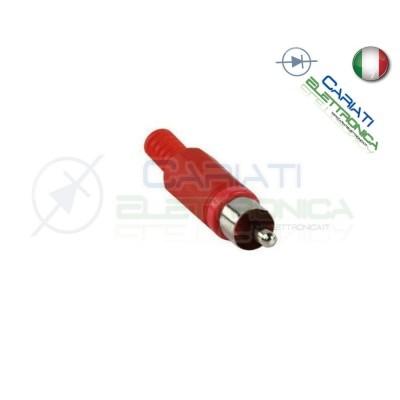 2 PEZZI Connettore Spina RCA volante maschio con guidacavo Rossa 1,00 €