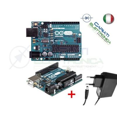 ARDUINO UNO Rev3 ORIGINALE con Alimentatore Arduino