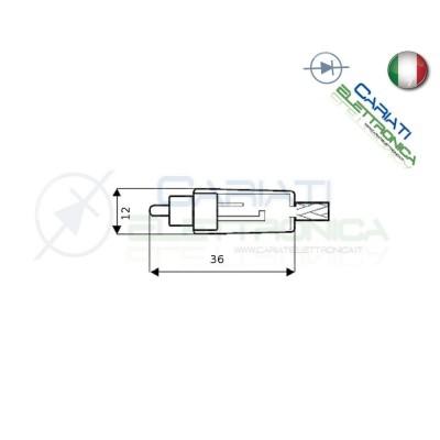 2 PEZZI Connettore Spina RCA volante maschio con guidacavo Nera  1,00€