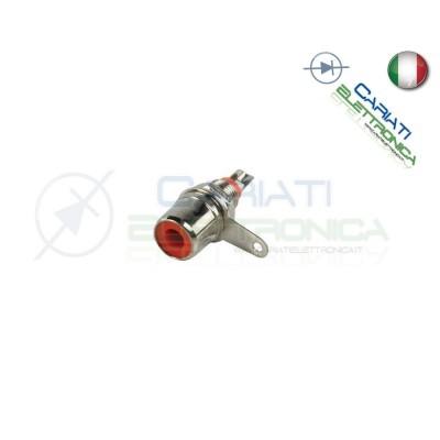 2 PEZZI Connettore presa RCA da pannello rossa Generico