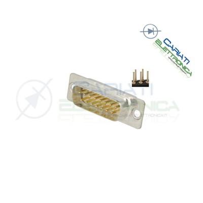 2 PEZZI Connettore SUB-D 15 poli MASCHIO con pin circuito stampato
