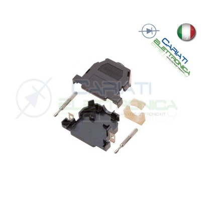 Cover per connettore SUB-D 25 poli in plastica con vite lunga Nera 1,00 €